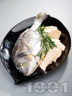 Печена риба ципура в сол на фурна - снимка на рецептата